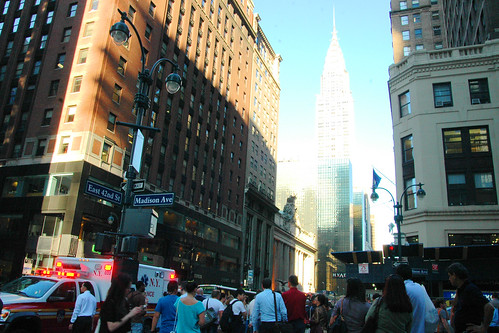 a calamity on the way to the chrysler building. I.