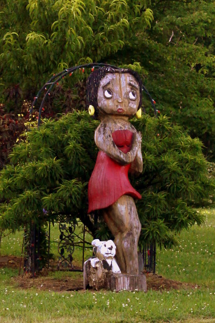 Betty Boop Carved Tree