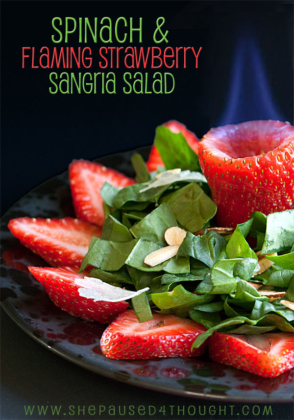 DOLE spinach & flaming strawberry sangria salad