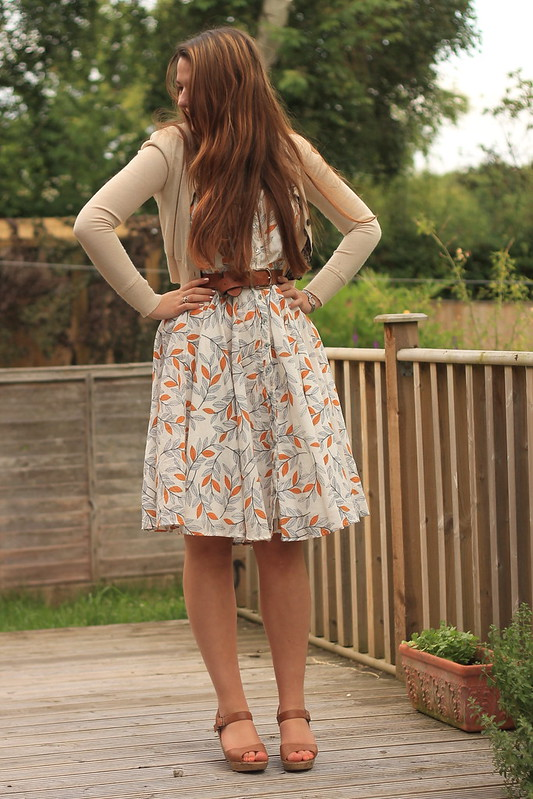 OOTD, outfit of the day, uk style blog, zara cardigan, shirt dress, belt, wedges