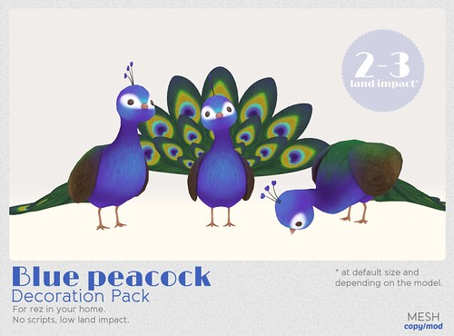 *MishMish* Blue Peacock - decor only