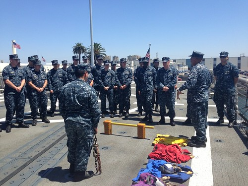 SS Vandegrift hosts a Junior Officer Basic Indoctrination class