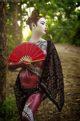 geisha, clothing, red, woman, fashion, female, photo shoot, lady, costume, spring, person, beauty,