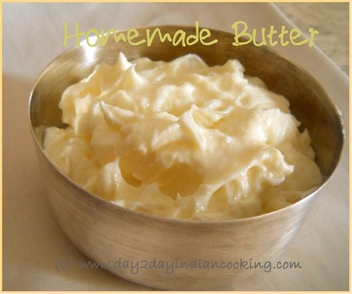 step by step instructions to make homemade butter