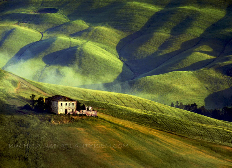 Early morning Tuscany landscape