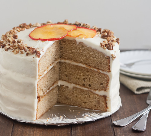 Apple-Spice Layer Cake with Goat Cheese Frosting