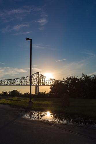 reflection sunrise september canonef1740mmf4lusm delawareriver project365 2013 commodorebarrybridge chesterpa september2013