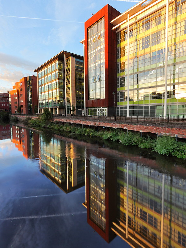 Architectural photo of the buildings in sheffield, south yorkshire
