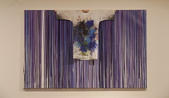 """Hermann Nitsch """"Splatter Paint with Painting Shirt""""- So well corresponding with the two paintings, but much too big - The Variable, a blindtext ~ Die Variable, ein Blindtext - 2 Paintings wanting a neighbour - Unanswered Request for a Painting - Kimono"""