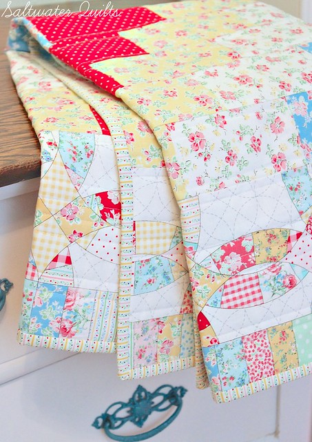 Simple Baby Quilt | Stair Steppin' Baby | © Saltwater Quilts 2013