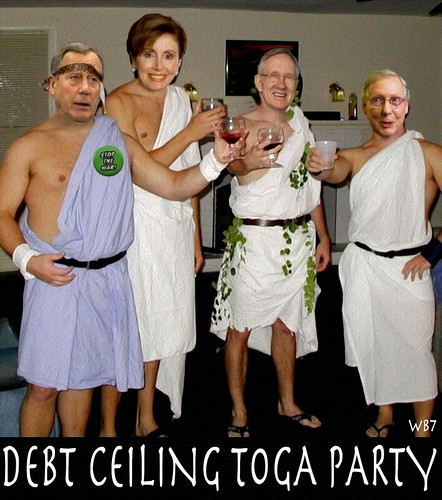 DEBT CEILING TOGA PARTY by WilliamBanzai7/Colonel Flick