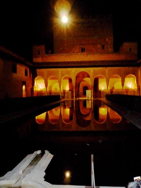 Andalusien Granada Alhambra Patio de los Arrayanes
