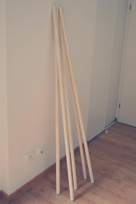 barres de rideau bois