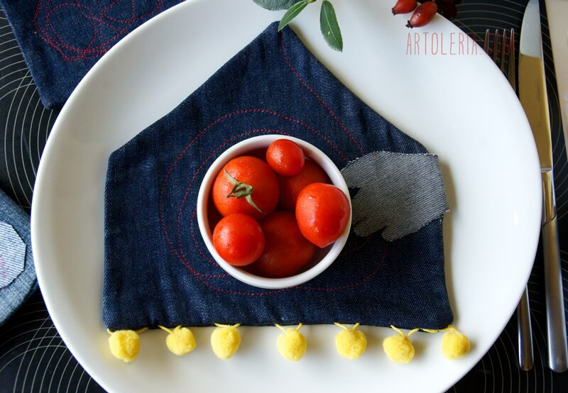 tomatoes and table setting