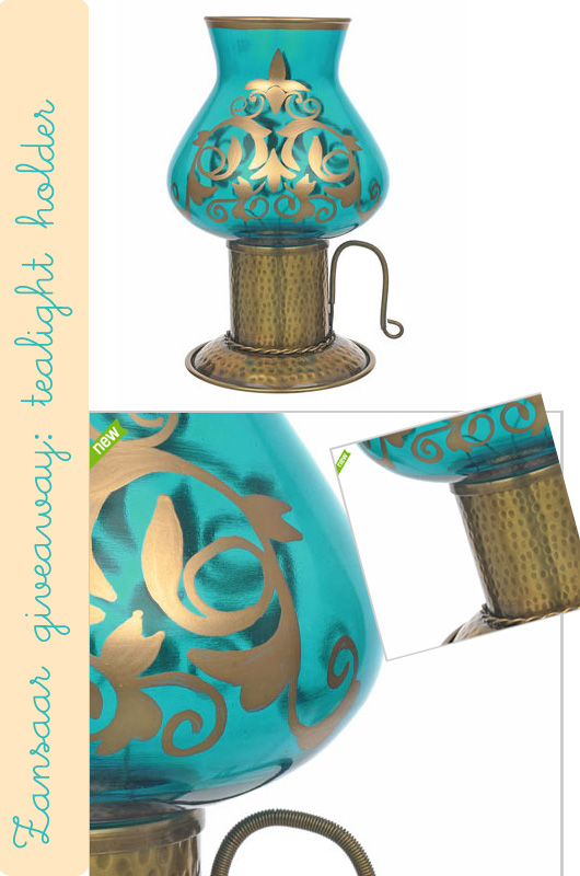Zansaar giveaway: turquoise tea light holder