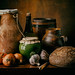 Still Life with bread and barrel (homage to Luis Meledez) by kevsyd