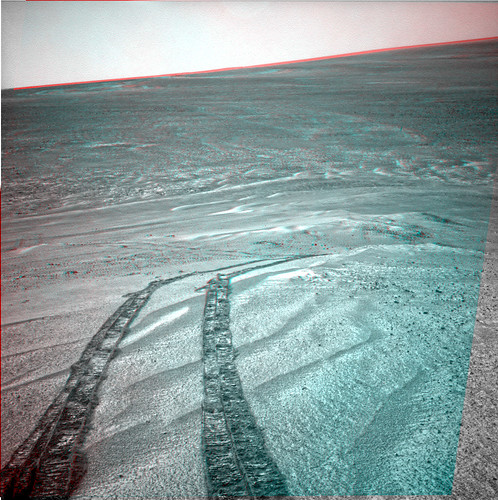 Opportunity sol 3472 NavCam anaglyph