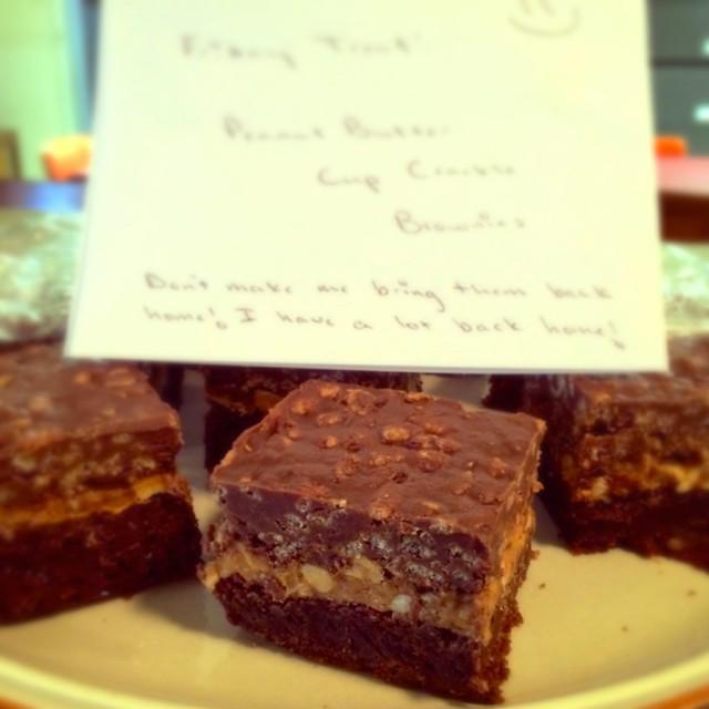 PB Cup Crackle Brownies