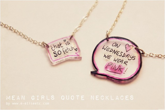 diy mean girls necklace1