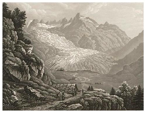009-Glaciar del Rhone-Cinquante vues pittoresques de la Suisse… -Vía e-rara