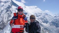 Ja na szczycie Island Peak Summit 6189m., w tle  połudnowa ściana Lhotse 8516m