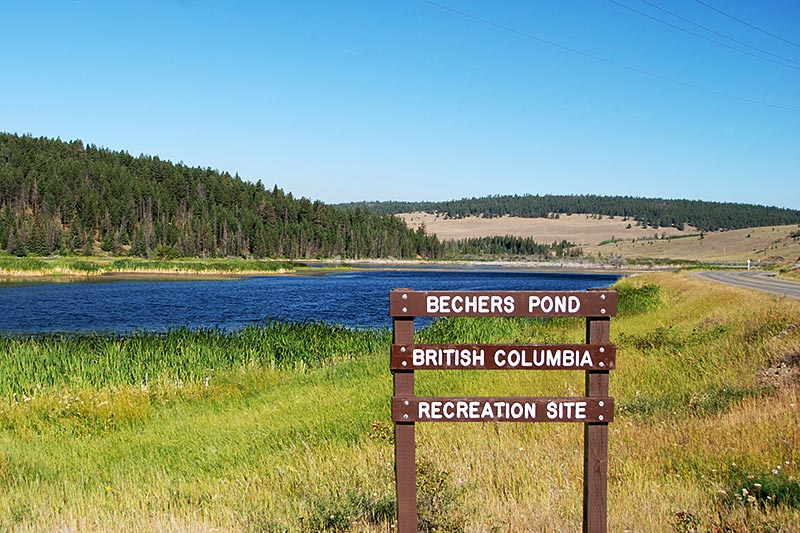 Bechers Pond Recreation Site, Riske Creek, Chilcotin, British Columbia