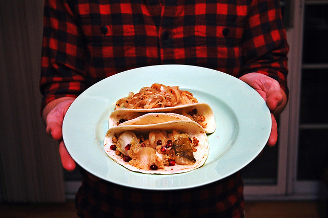 kimchi taco