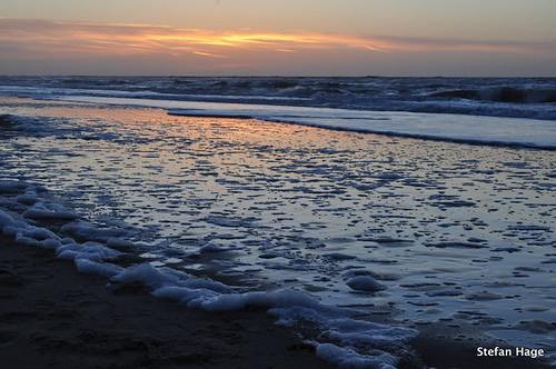 Oranje gloed in de zee, Texel