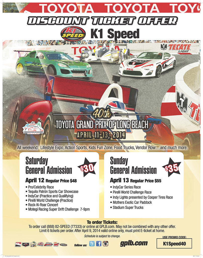 K1 Speed Discount Ticket Offer Toyota Grand Prix Of