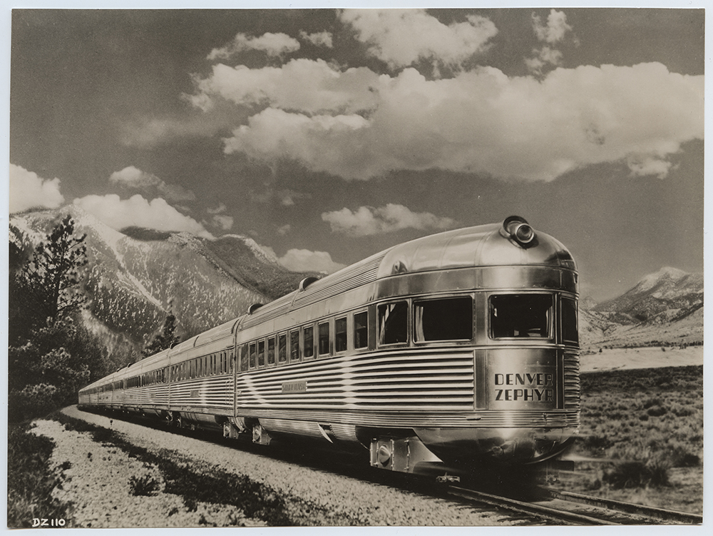 C.B.&Q.R.R., Original 'Denver Zephyr', 'Silver Flash' on Rear