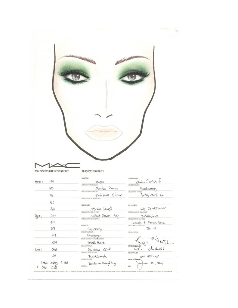 MAC Wicked Inspired Look Face Chart-page-0