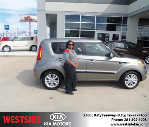Happy Anniversary to Renee Newton on your 2013 #Kia #Soul from Landry Boris and everyone at Westside Kia! #Anniversary by Westside KIA