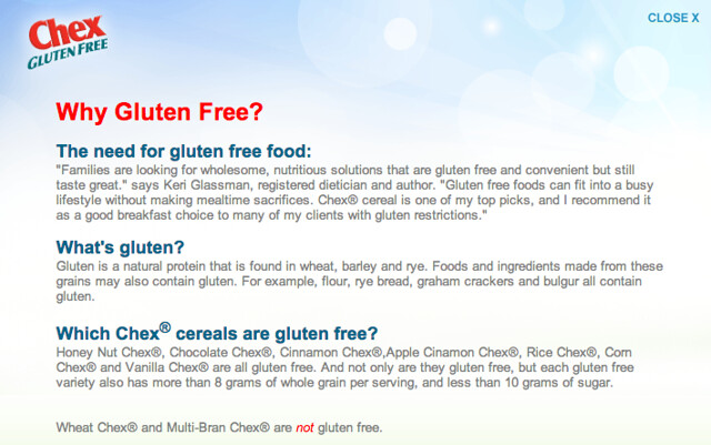 OK, so why gluten free?