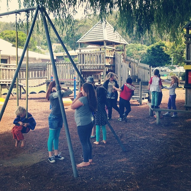 Good mates hanging out #playmatters #hobartnaturallearners #coop