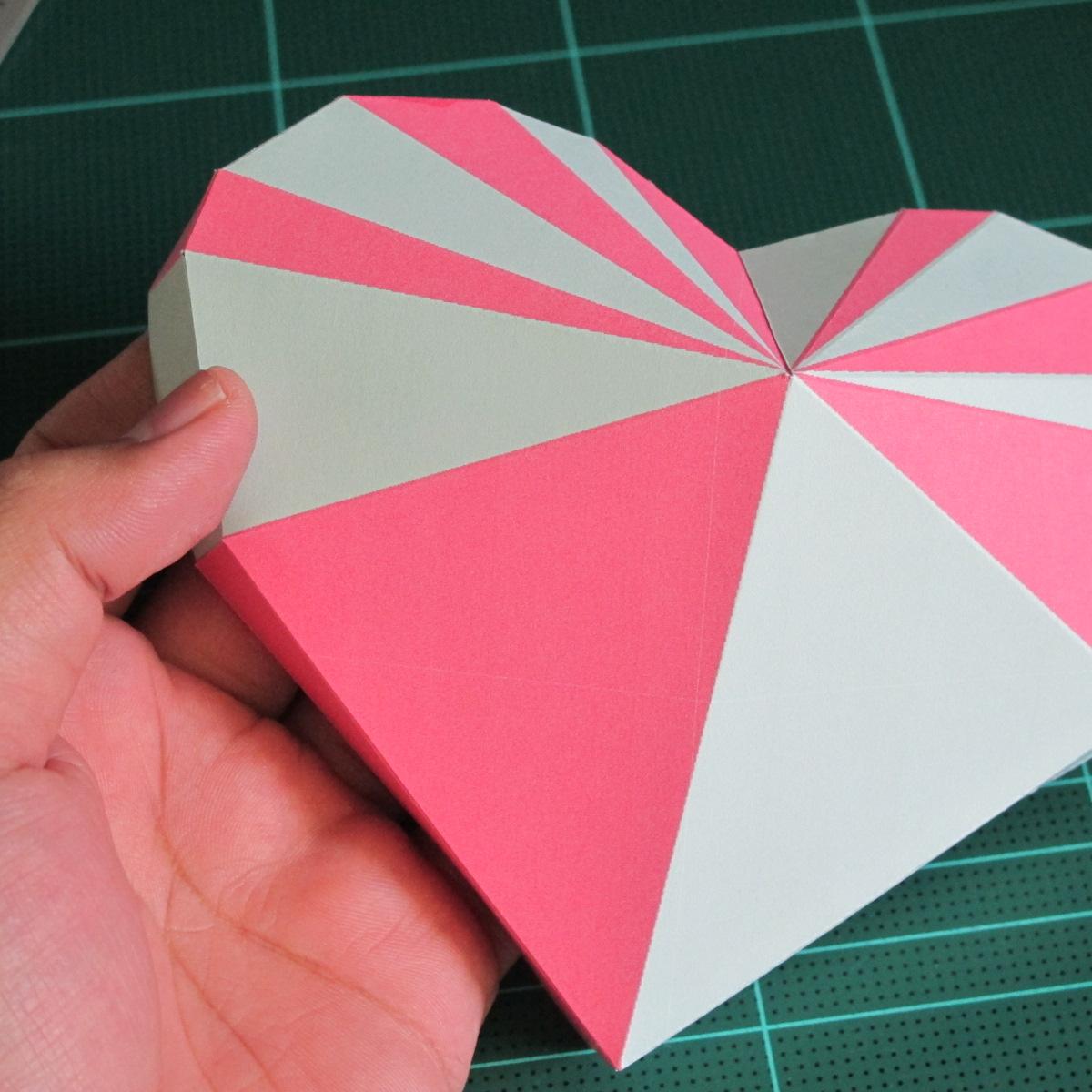 วิธีทำโมเดลกระดาษเป็นกล่องของขวัญรูปหัวใจ (Heart Box Papercraft Model) 016