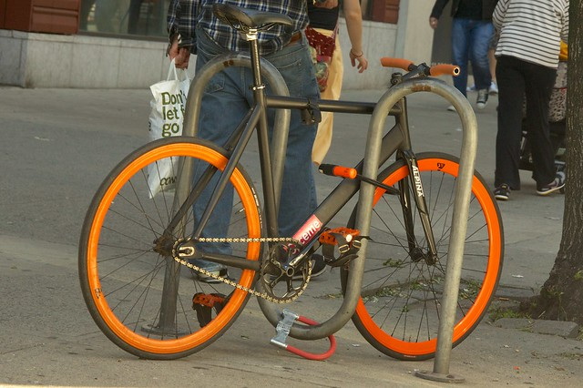 bike lock bike rack