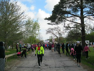 approaching the start line