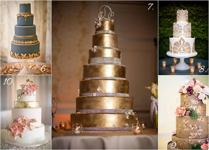 10 Wedding Cakes With a Midas Touch | Bridal Styles