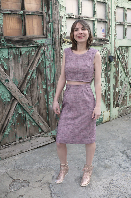 Ginger Makes two-piece cocktail dress