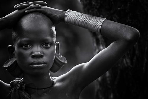 untitled... Surma girl - Ethiopia