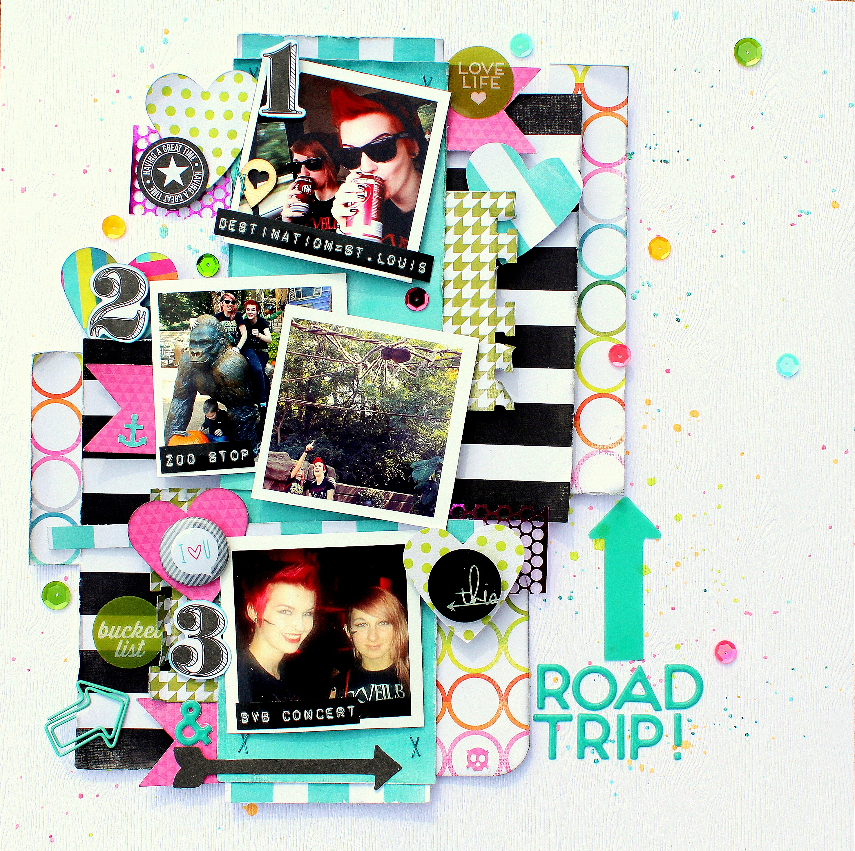 Road Trip Layout Cassie Box