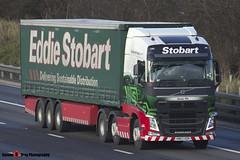 Volvo FH 6x2 Tractor with 3 Axle Curtainside Trailer - KM63 HZR - Anna Flo - Eddie Stobart - M1 J10 Luton - Steven Gray - IMG_4802 (2)