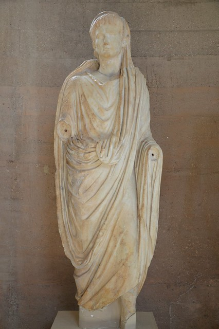 Statue of Augustus, from the Julian Basilica, 27 BC – 14 AD, Archaeological Museum of Ancient Corinth, Greece
