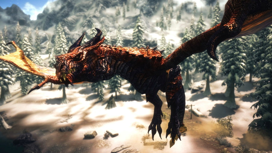 1366x768 dragon fire skyrim - photo #29