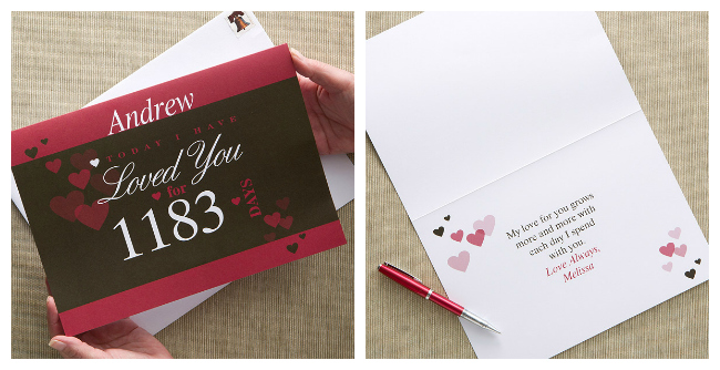 Personalized Oversized Greeting Card for Valentines Day
