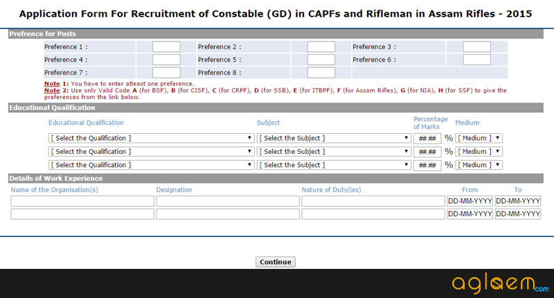 SSC GD Constable Online Application Form 2015 – Apply Now