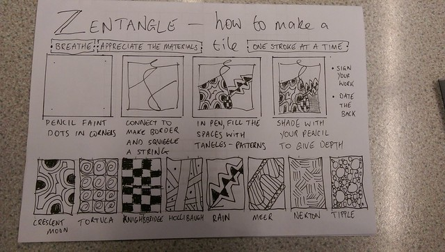 Summary of what we have learned so far in Zentangle Club.