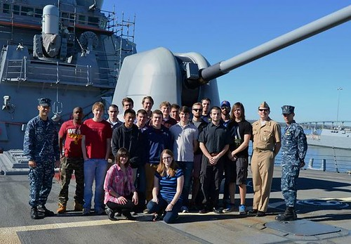 Future Nuclear Officers from Across the Nation Tour USS Russell