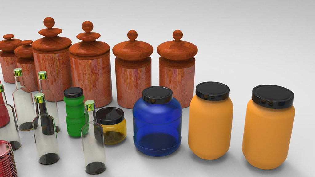 3d Kitchenware Textured 3d Model