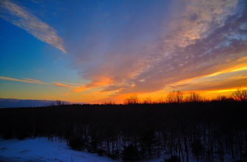 snow n sunset